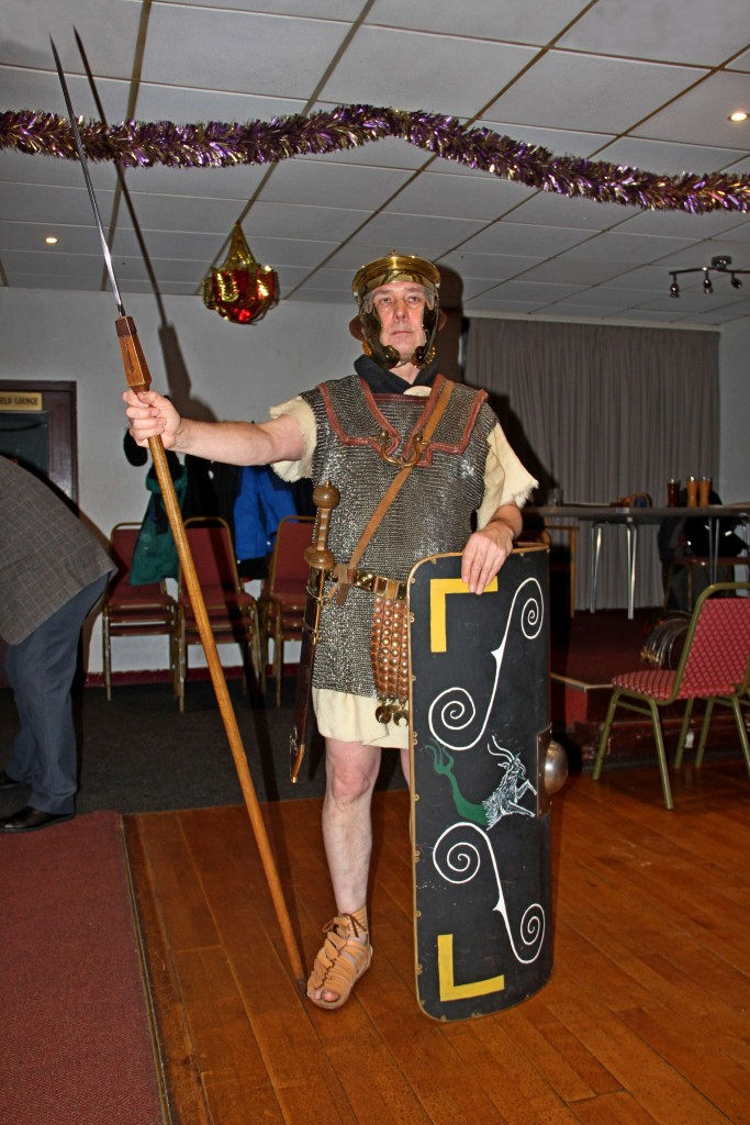 Roman Soldier during talk on Roman Britain